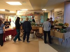 Patients, staff and the community enjoy shopping at the St. Joe's Hospital Farmers Market.